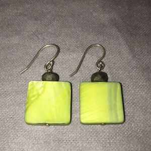 Silpada Square Mother of Pearl Earrings W1134
